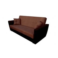 Амстердам диван книжка в коричневой рогожке